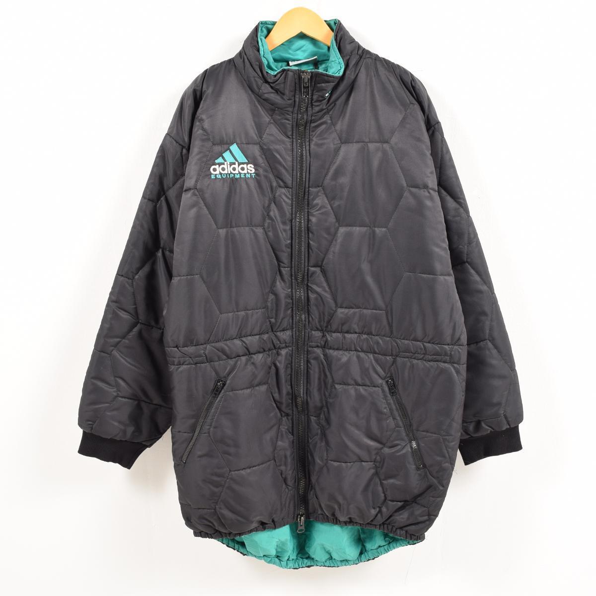 90年代 アディダス adidas EQUIPMENT エキップメント デカロゴ ビッグロゴ 中綿入り ナイロンジャケット メン