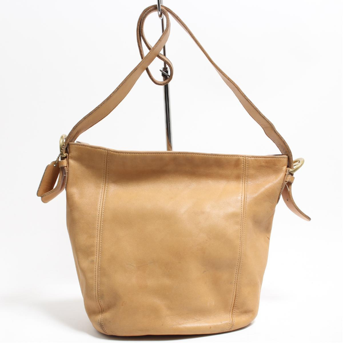 Anb8918 Made In Coach Old Genuine Leather Shoulder Bag Usa