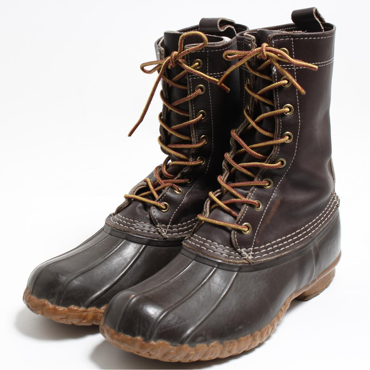 10M men 27 0cm vintage /bon9796 made in L  L  Bean L L Bean 10 inches 8  hall bean boots hunting boots USA