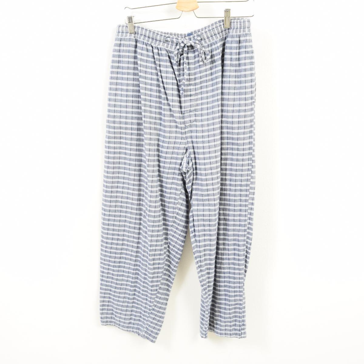 6fa16f33dd54cf Nautica NAUTICA SLEEPWEAR checked pattern pajamas underwear easy underwear  men L  wav5092