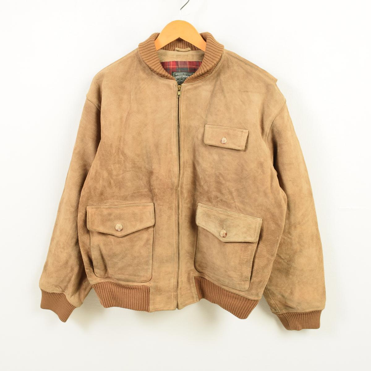 eb631c390 80-90 generation Ralph Lauren Ralph Lauren POLO COUNTRY polo country suede  leatherette jacket men ...