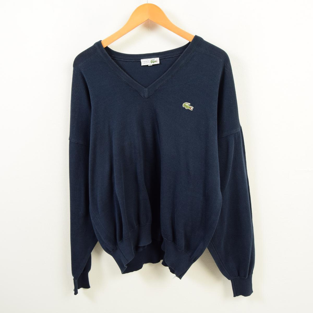 78a16ba5ac0c Men L vintage  waw9941 in the 70s made in Lacoste LACOSTE CHEMISE French  Lacoste V neck wool knit sweater France