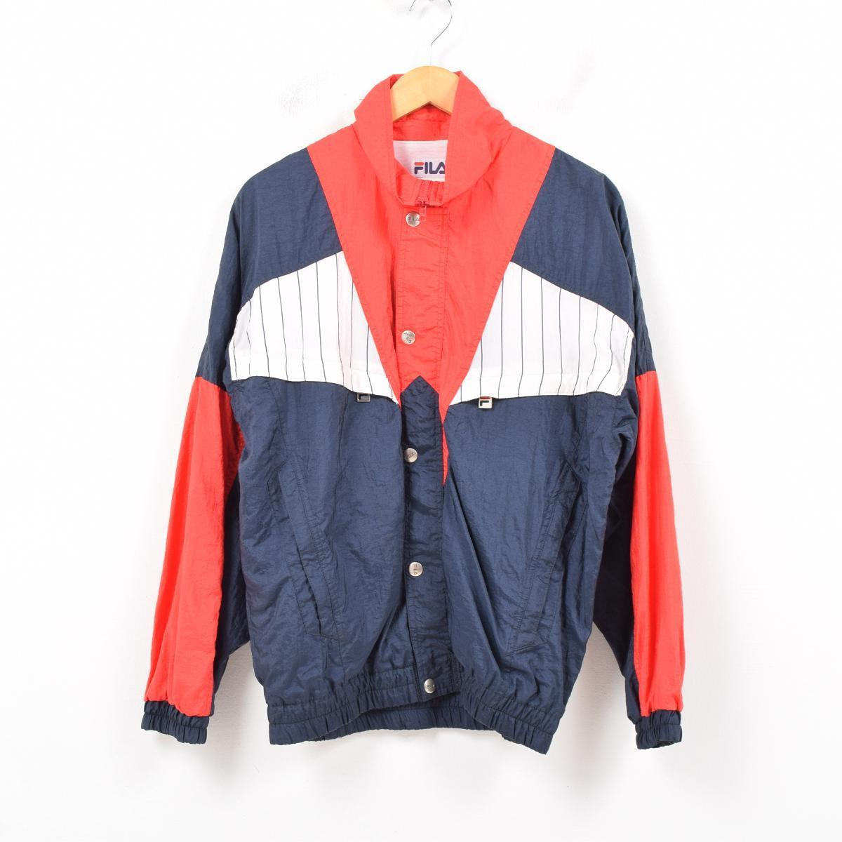 dec80e34 90s Fila FILA nylon jacket men L /wba1527