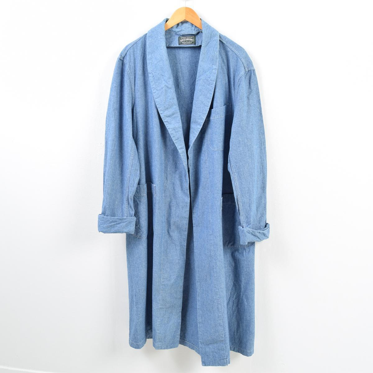 Xl L Robe Wbb3138 Shawl Haori Room In Lauren Gown Lady's Ralph Country Denim Collar Polo Made Usa orxBCde