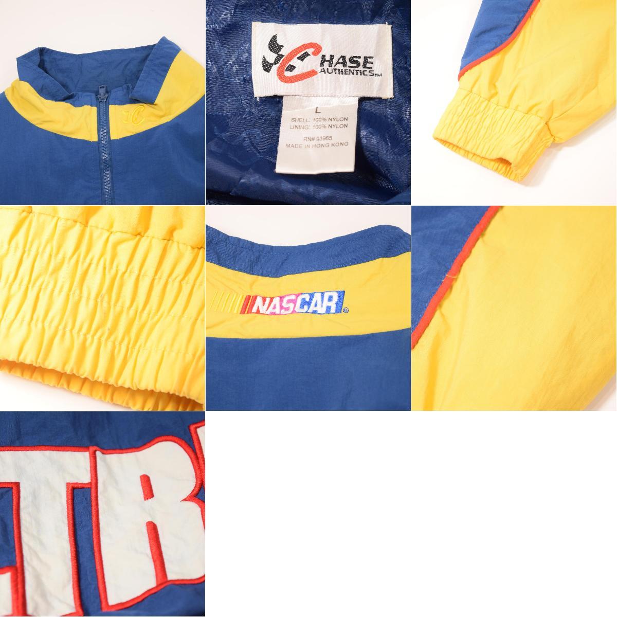CHASE AUTHENTICS NASCAR NASCAR MICHAEL WALTRIP Michael Walt lip nylon  racing jacket men XL /wax3365