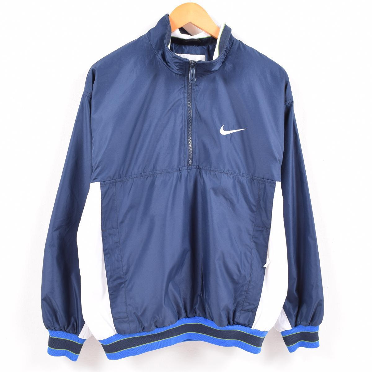 latest fashion hot product buying cheap 90s Nike NIKE half zip windbreaker men M /waw6206