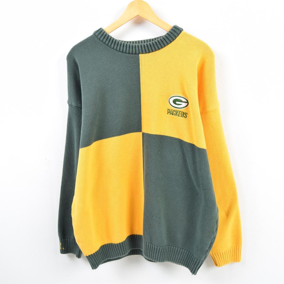 new product 58b49 a7b78 Men L /wbb2832 made in TUNDRA NFL GREENBAY PACKERS Green Bay Packers cotton  knit sweater Canada