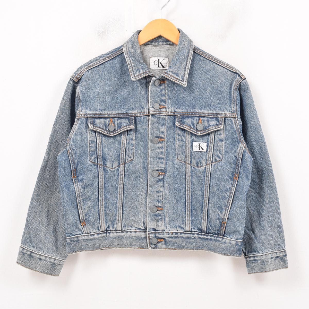 3179628c6 90s Calvin Klein Calvin klein JEANS denim jacket G Jean Lady's L /wax3756  ...