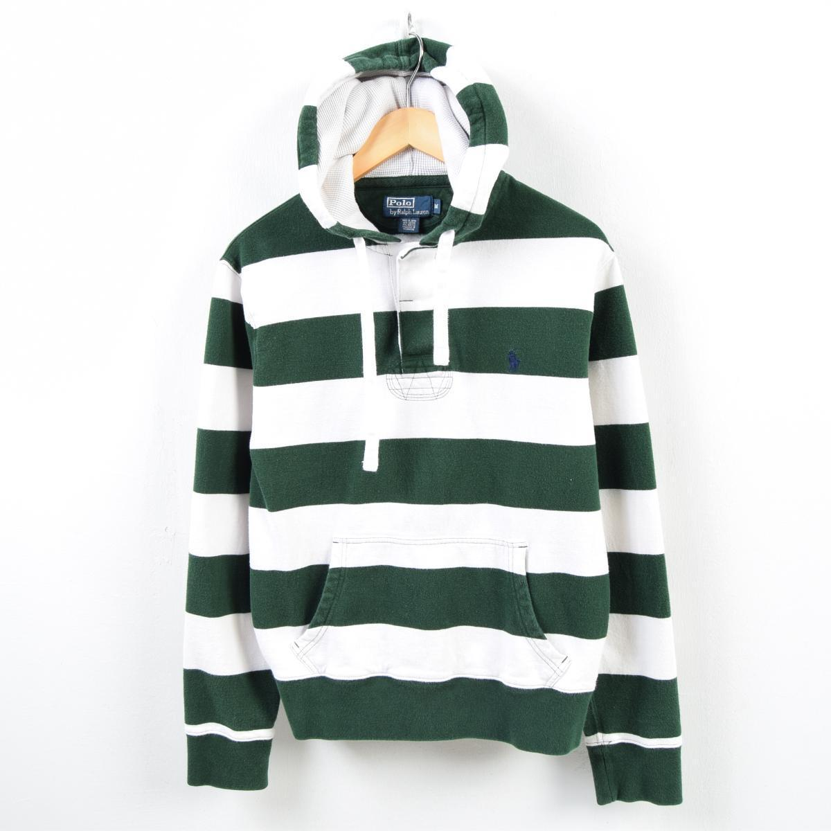 Wbb2464 Stripes By Sweat Shirt M Lauren Horizontal Parka Polo Men Ralph Half Button DEIHeW9Yb2
