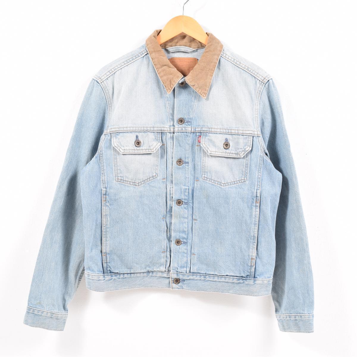 Levis Levis 70527 0360 Corduroy Collar 2nd Type Denim Jacket G Jean Men M Waw5596