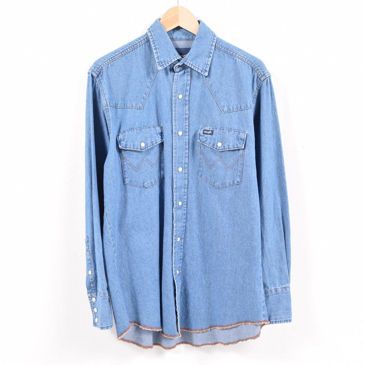 446bd76356 VINTAGE CLOTHING JAM  Wrangler Wrangler long sleeves denim western ...
