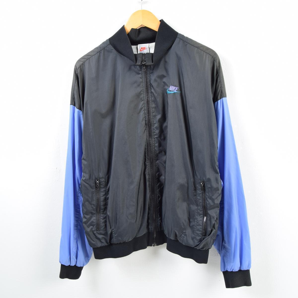 cb823cbd71 90s Nike NIKE silver tag decalogo big logo nylon jacket men XL  wba4972
