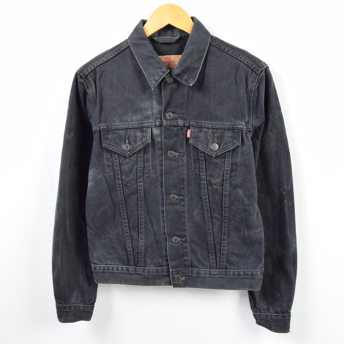 5c41aa57813e 90s Levis Levi's FOR WOMEN black denim jacket G Jean Lady's L /wba5118 ...