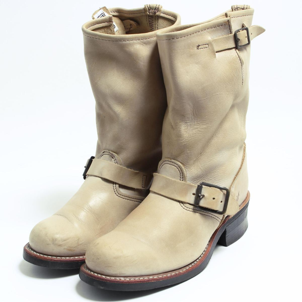 443792306f2 7M Lady's 23.0cm /bon4350 made in fried food FRYE engineer boots USA