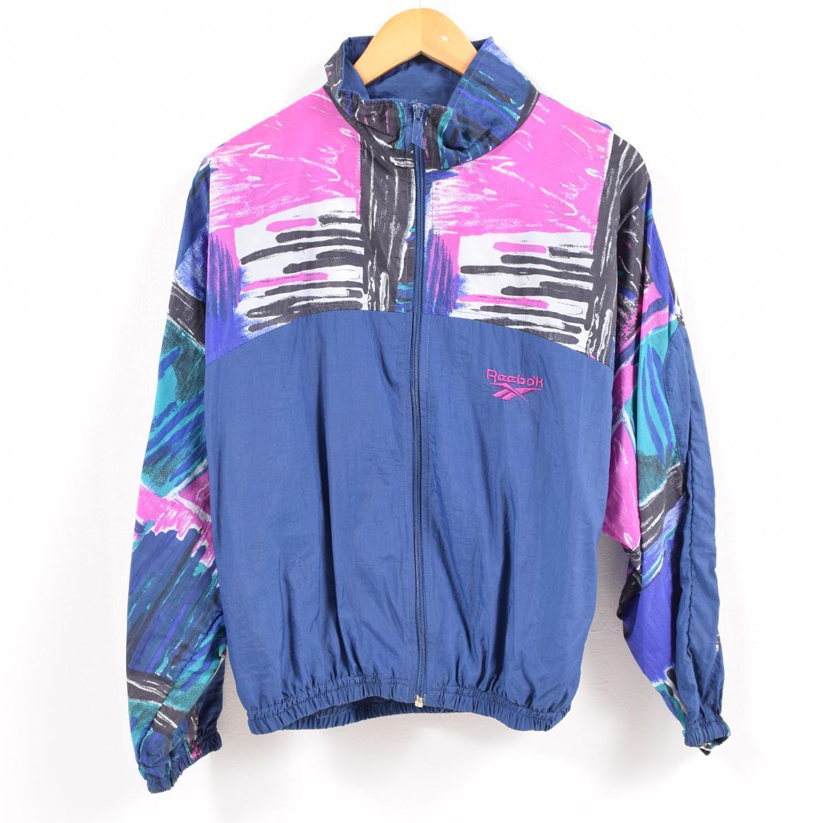 a4f63d492b06e 90s Reebok Reebok nylon jacket men M /wbc0856