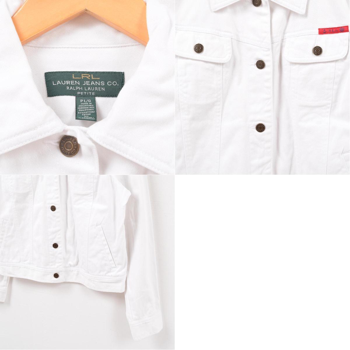5a2cab350 Ralph Lauren Ralph Lauren LAUREN JEANS CO white denim jacket G Jean Lady s L   wbb0872