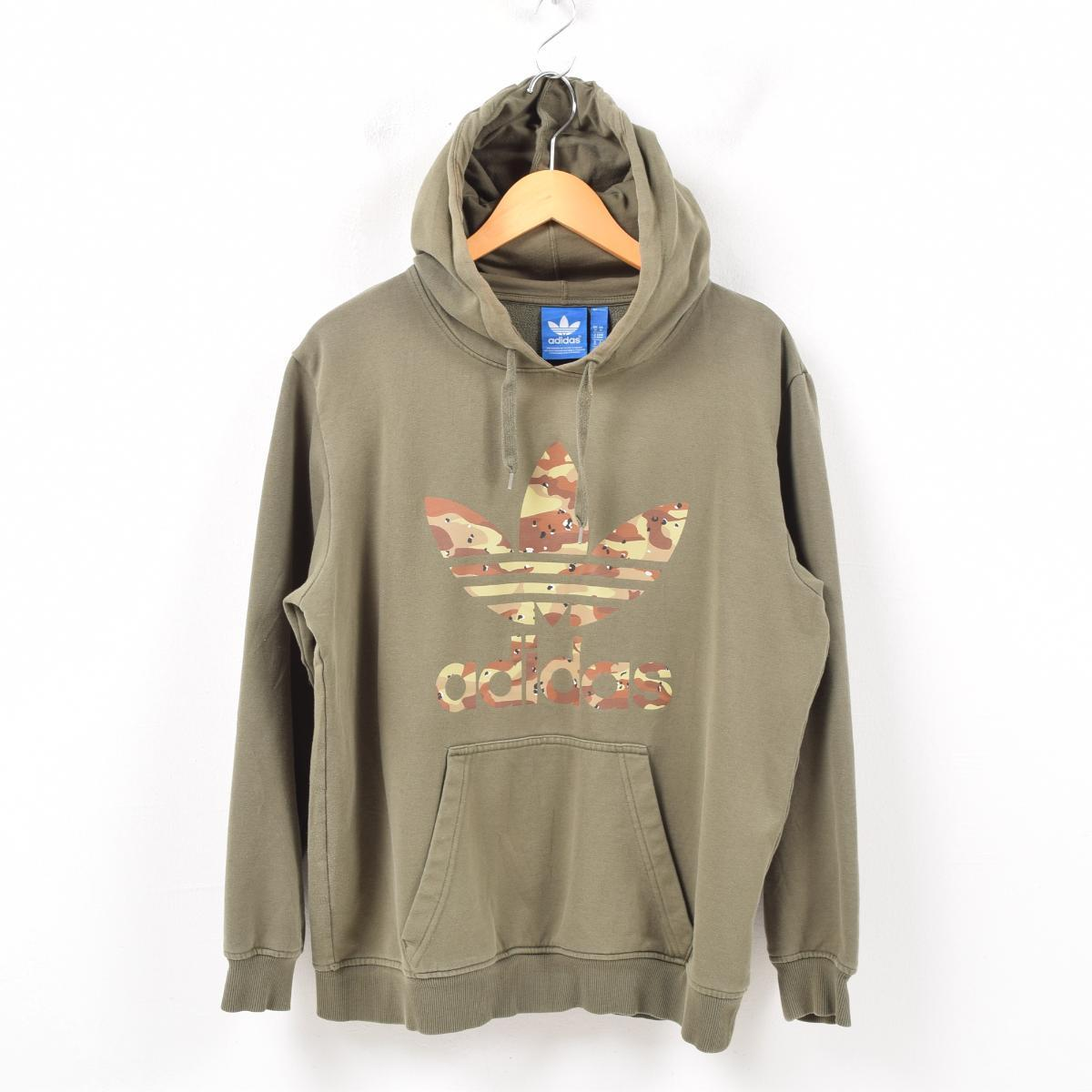 the best attitude 11c2d 52bea Adidas adidas ORIGINALS originals camouflage logo print sweat shirt  pullover parka men M /wbb0597