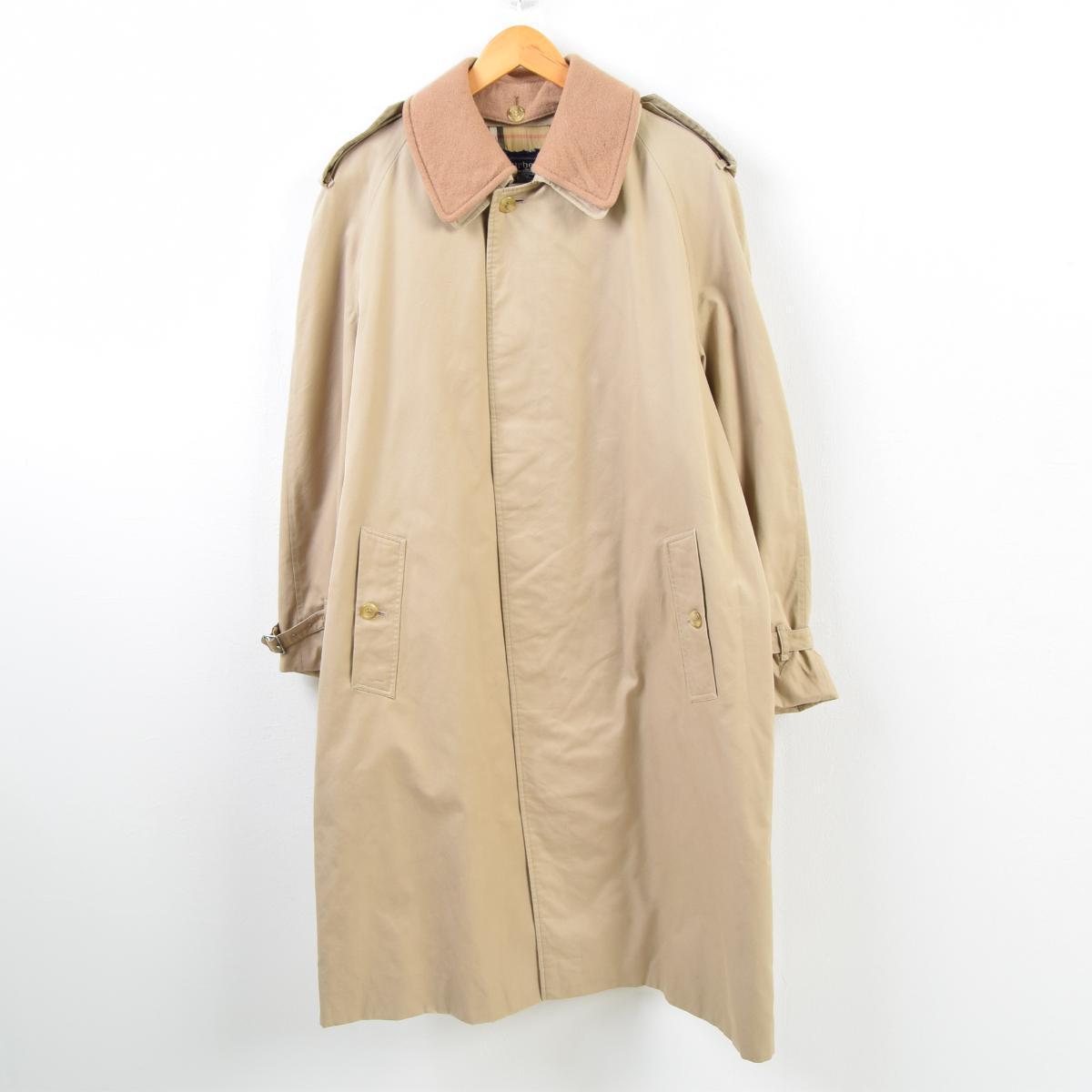 バーバリー Burberry's ウール襟付き エポレット付き ステンカラーコート バルマカーンコート 42 メンズM /wbc9976 【中古】 【190219】【TS1911】【SVTG】