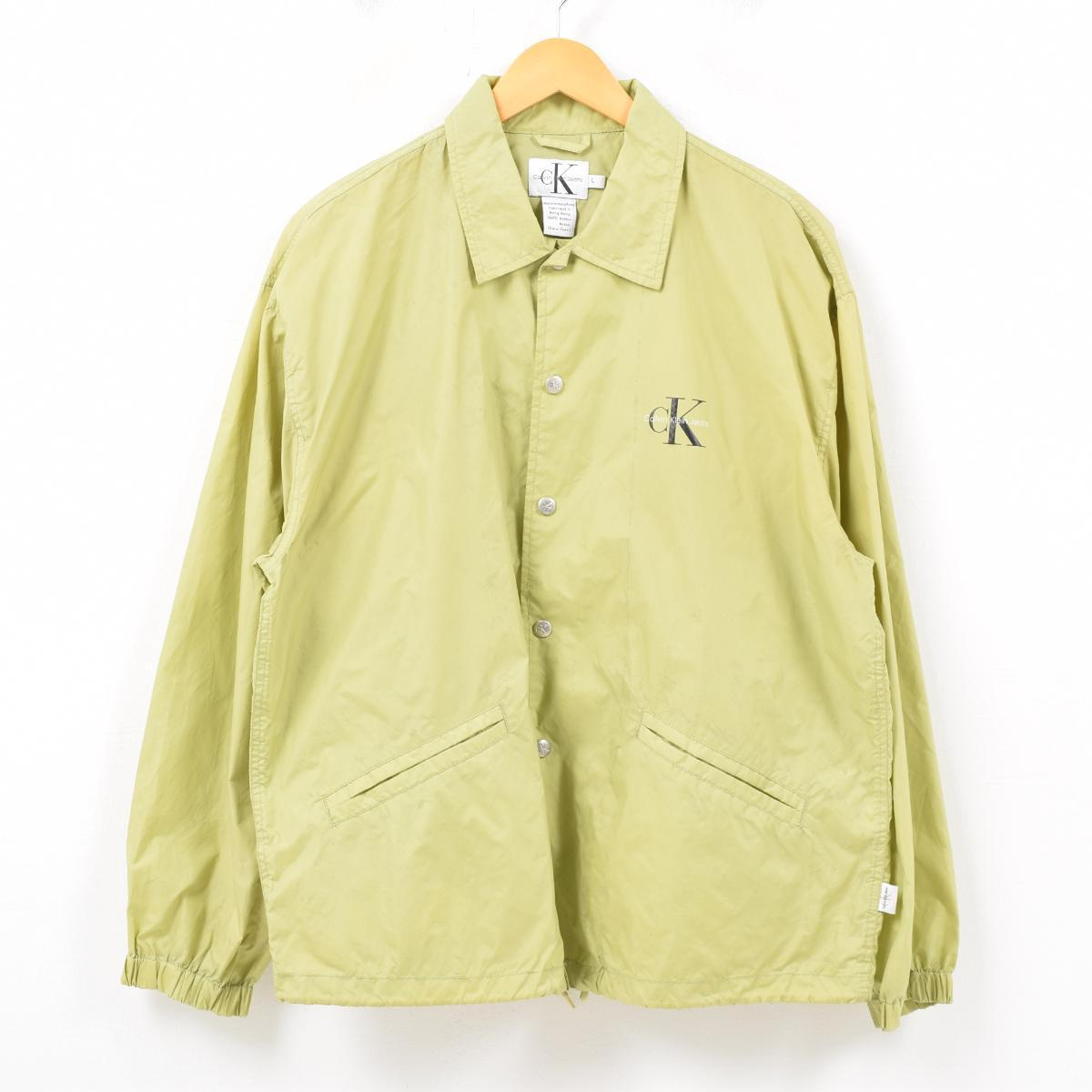 64ccee45d 90s Calvin Klein Calvin klein JEANS decalogo big logo back logo coach  jacket men L ...