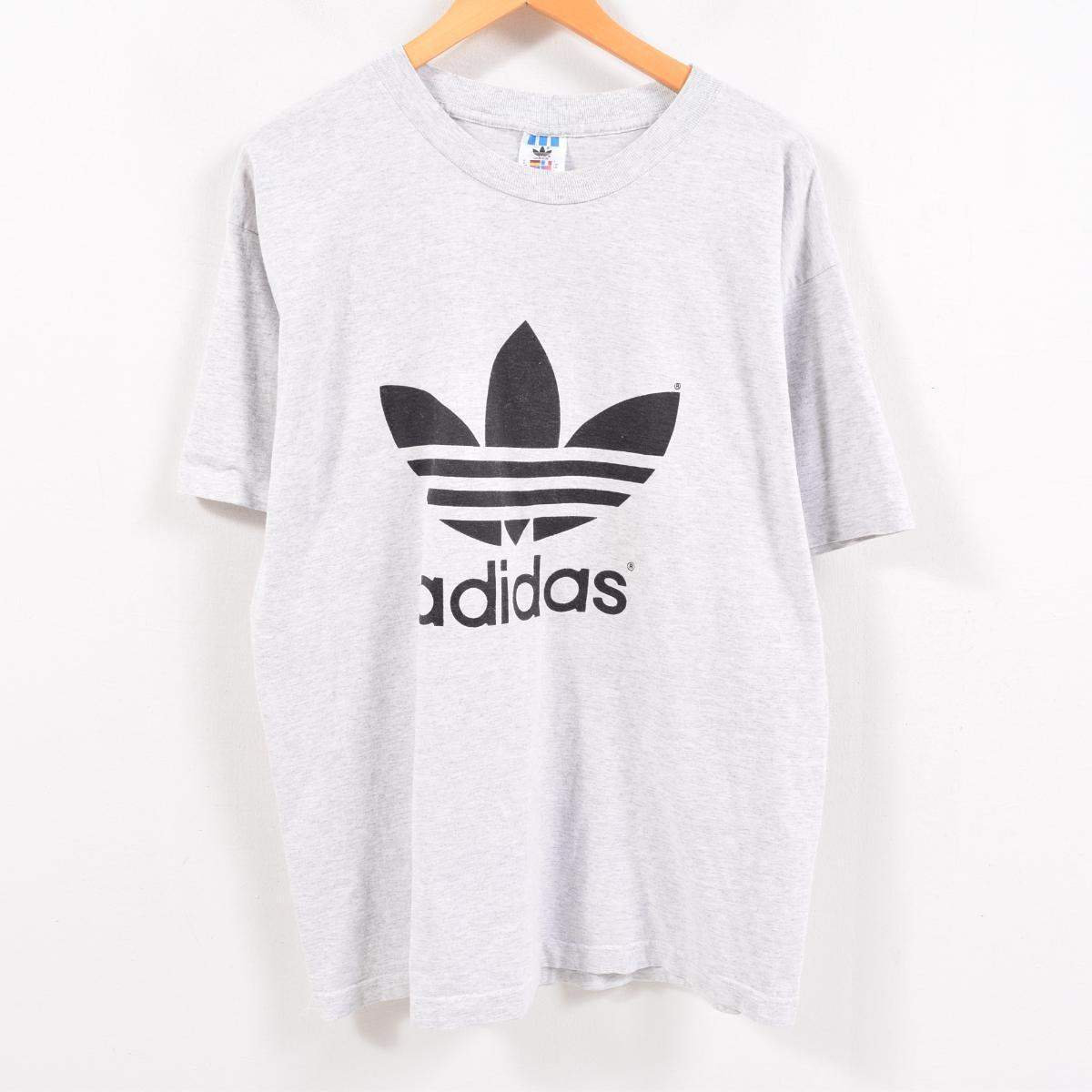 ad8ab263e Men XL /wbc3957 in the 90s made in Adidas adidas both sides print decalogo  big logo logo T-shirt USA