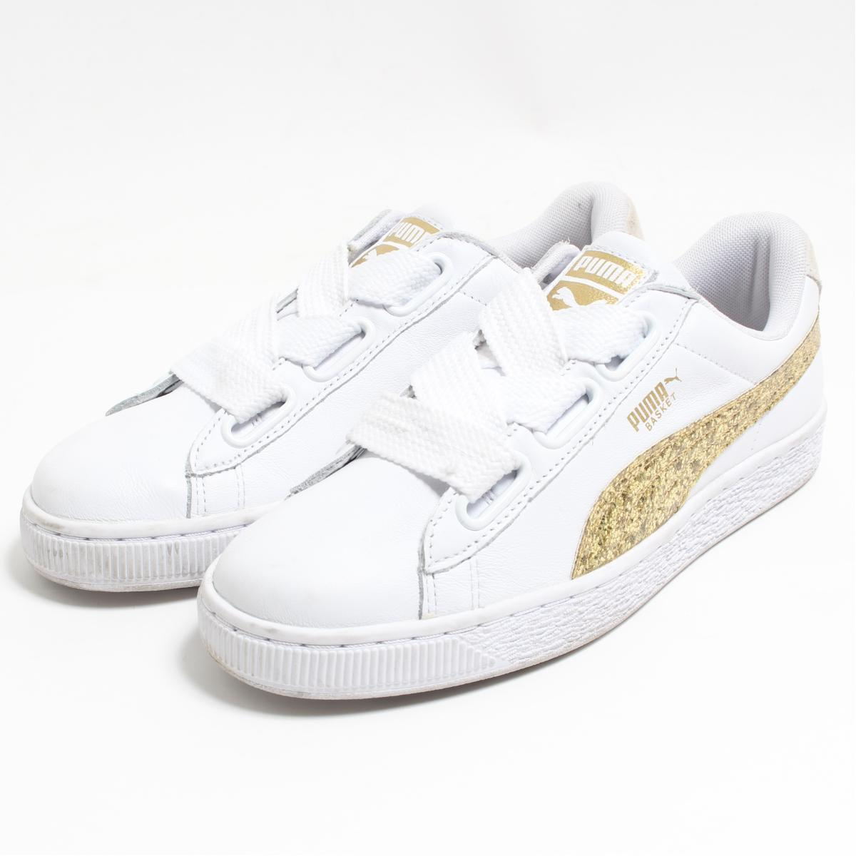 brand new be069 ae763 Puma PUMA BASKET HEART GLITTER sneakers US8.5 Lady's 25.0cm /boo7513