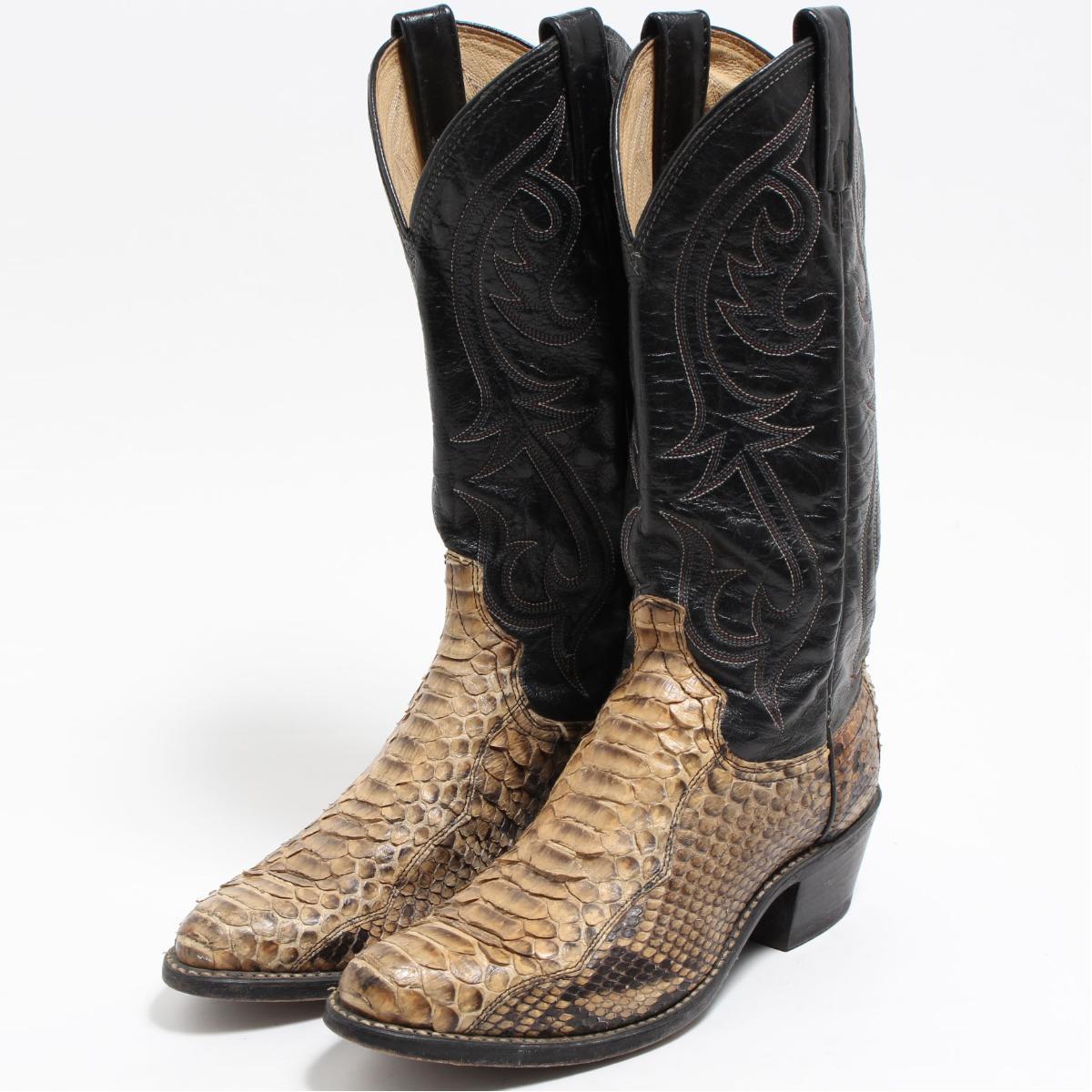 3961c4e6465 Lady's 23.0cm /boo7125 made in dingo DINGO python leather western boots USA