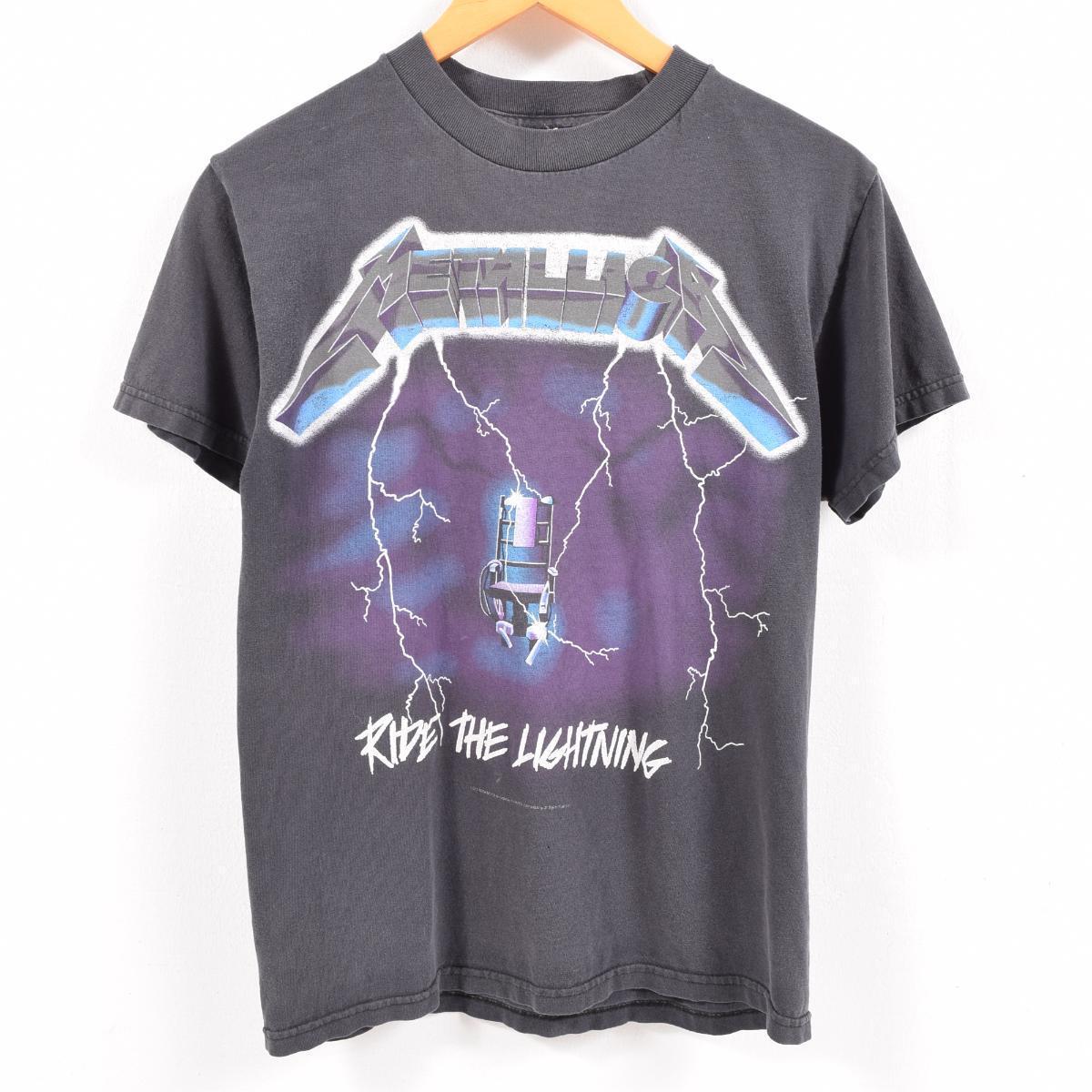 a6c25a802 ALSTYLE APPAREL   ACTIVEWEAR METALLICA Metallica RIDE THE LIGHTNING  ライドザライトニングバンド T-shirt men S  wbc2772