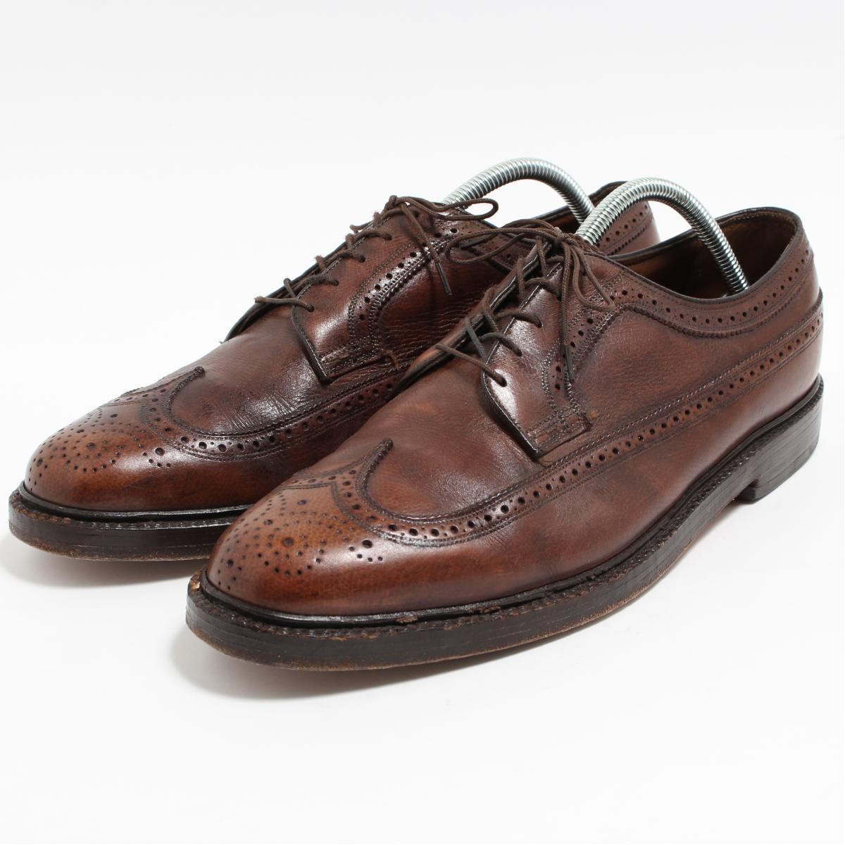 05bbfff9a9 10EEE men 28.0cm vintage  boo7261 in the 70s made in Florsheim Florsheim  IMPERIAL Imperial wing tip shoes USA