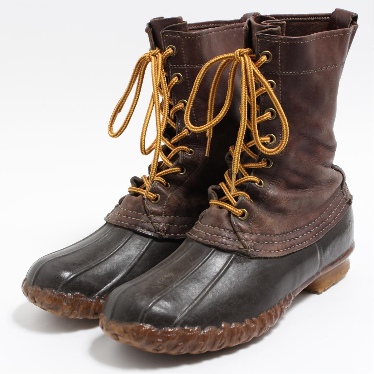 60年代 エルエルビーン L.L.Bean 筆記体タグ 10インチ 8ホール ビーンブーツ ハンティングブーツ USA製 8GM メンズ26.5cm ヴィンテージ /boo6621 【中古】 【190319】