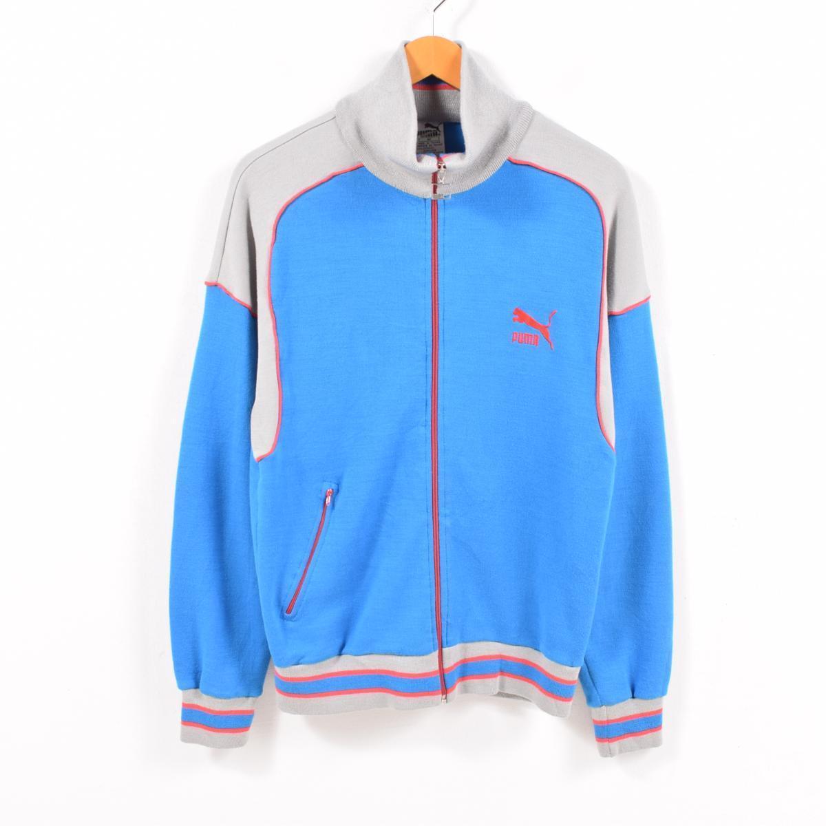 83b6fb654 80s Puma PUMA acrylic jersey truck jacket men M vintage /wbc6390