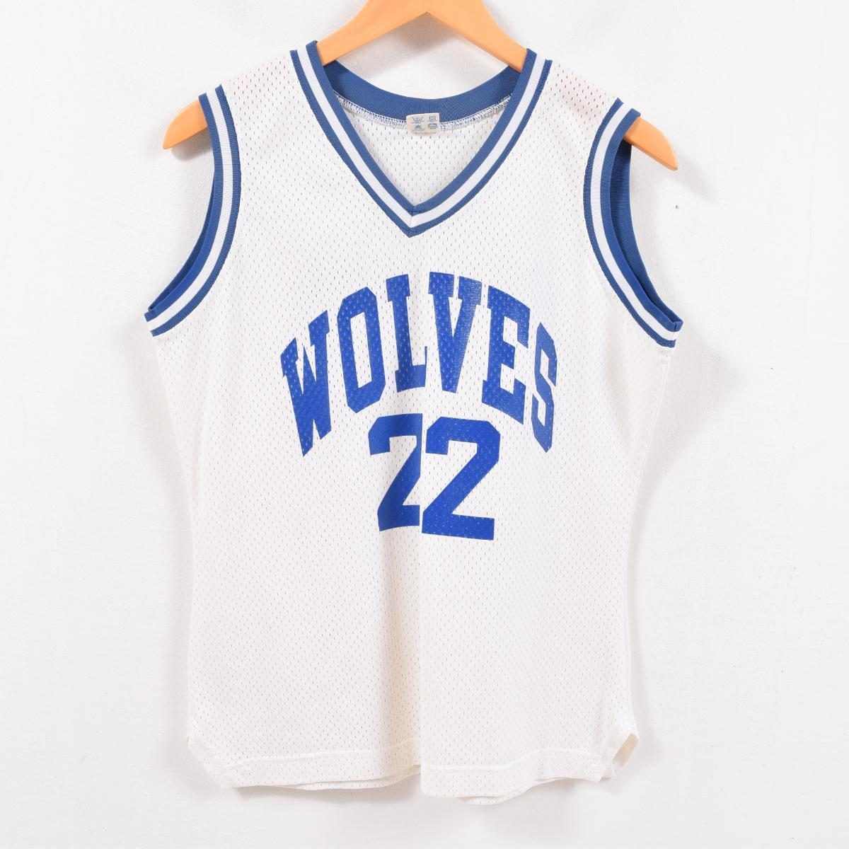 2e01bd5b Lady's M vintage /wbd9983 in the 80s made in champion Champion tricot tag  WOLVES 22 ...