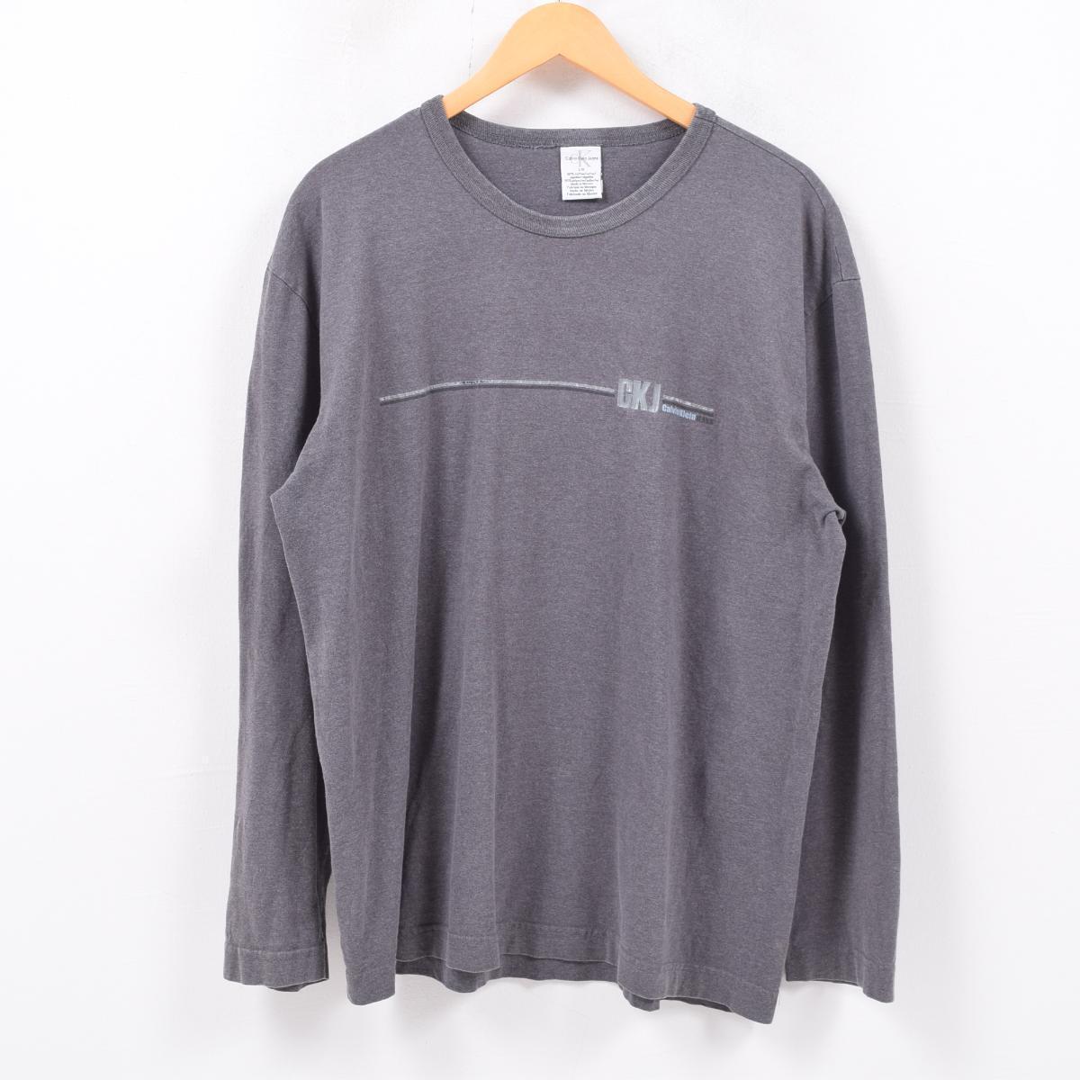 1c3e1616c 90s Calvin Klein Calvin klein JEANS long T-shirt Ron T men L /wbd3126 ...