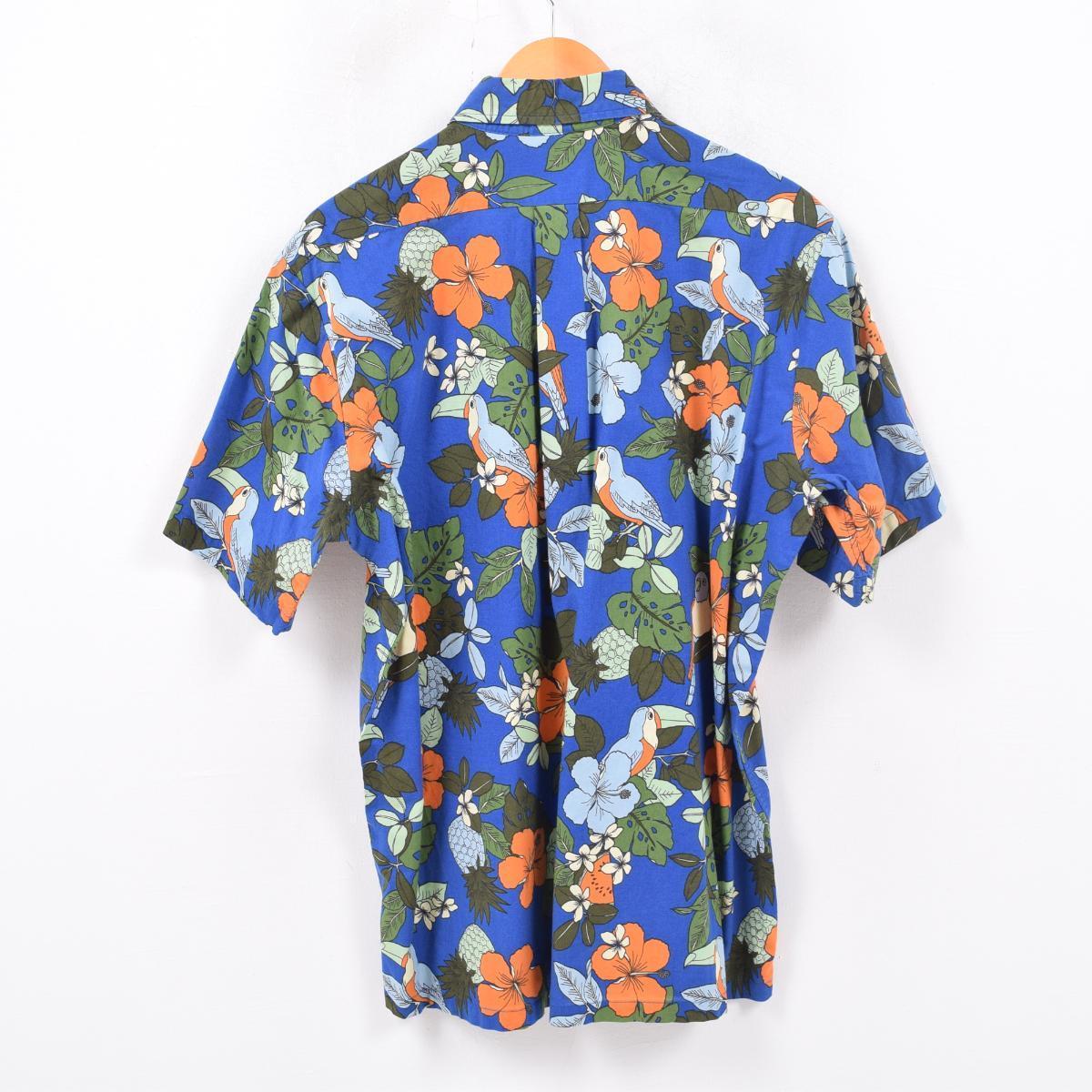 4af1379e レインスプーナー REYNSPOONER JOE KEALOHA'S Joe care Rojas hibiscus pattern whole  pattern pullover Hawaii Ann Hawaiian shirt men L /wbd2265