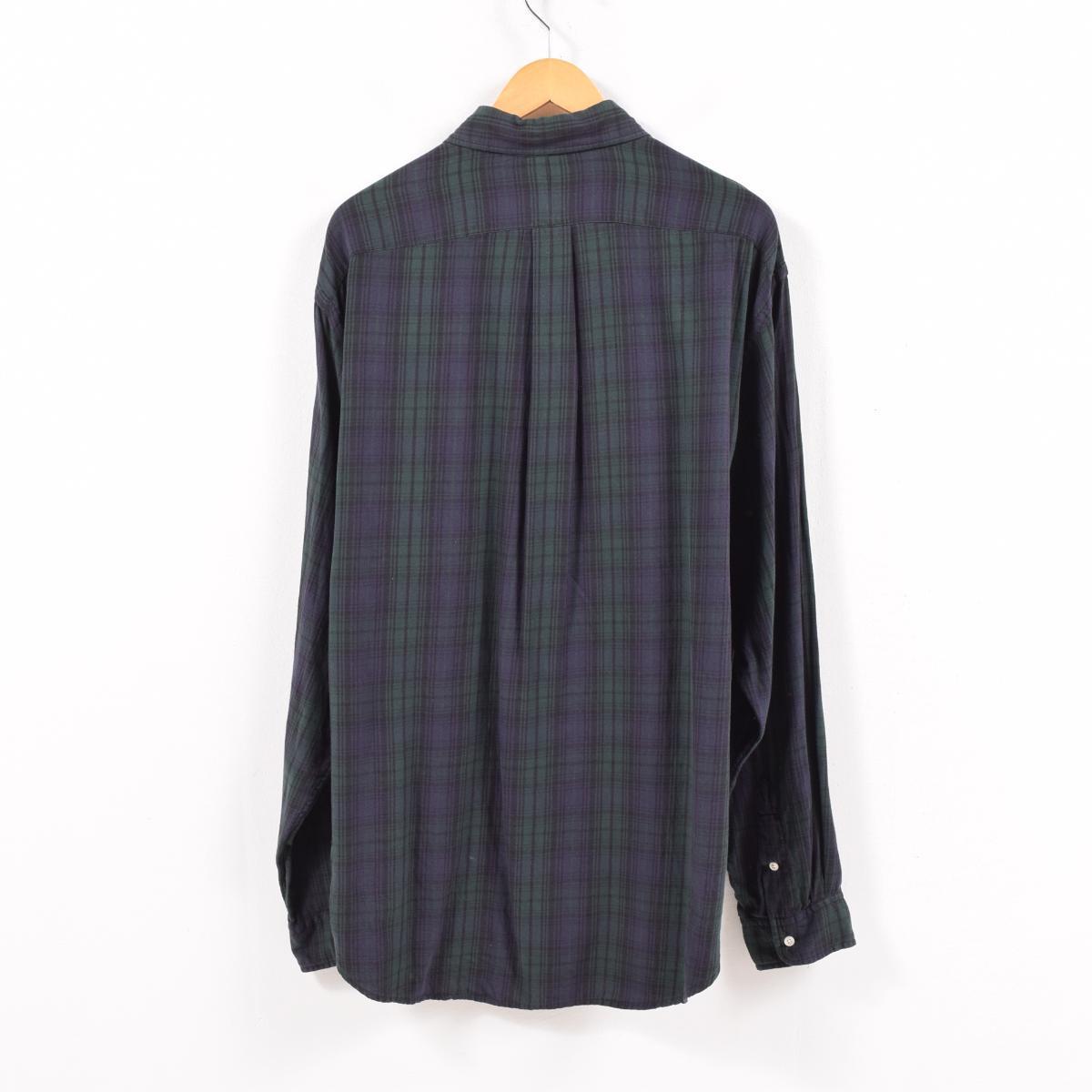 62e01445 90s Ralph Lauren Ralph Lauren RALPH LAUREN JEANS CO Black Watch check long  sleeves button-down shirt men XL /wbd9525
