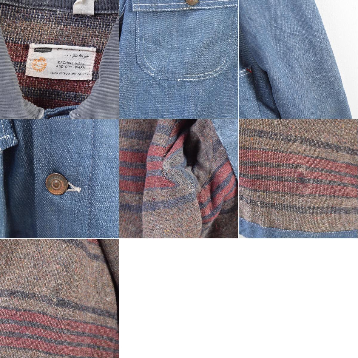 60年代 シアーズ Sears バッドダイ デニムカバーオール メンズL ヴィンテージwbd5181190425VTGws2001CS2001oQdWBxerC