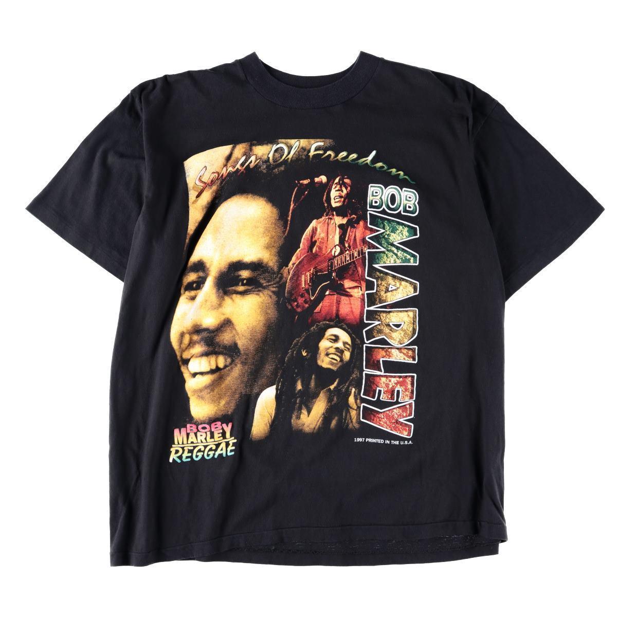 90年代 BOB MARLEY ボブマーリー WHO THE CAP FIT SO LET THEM WEAR IT バンドTシャツ メンズXL ヴィンテージ /wbb7131 【中古】 【190502】【SVTG】