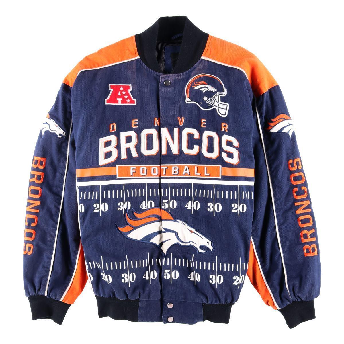 NFL DENVER BRONCOS デンバーブロンコス レーシングジャケット メンズXXL /wbf2400 【中古】 【190708】【PD2001】【CS2003】【SS2003】