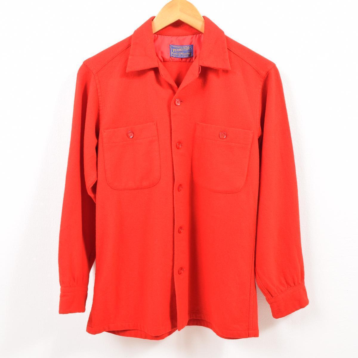 50年代 ペンドルトン PENDLETON オープンカラー ボードシャツ ウールボックスシャツ メンズS ヴィンテージ /wbg0437 【中古】 【190810】【SS2003】【SS2007】【CS2007】