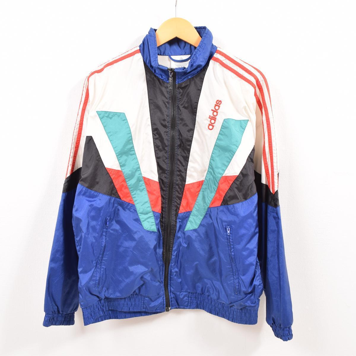 80~90年代 アディダス adidas ナイロンジャケット メンズL ヴィンテージ /wbg0585 【190810】【PD