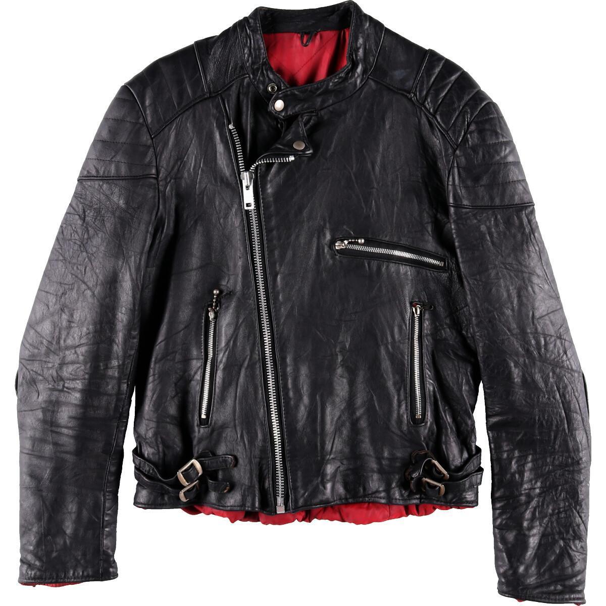 ロンジャン セミダブルライダースジャケット メンズXL /wbf9001  【190901】【SS2009】【JS2010】:古着屋JAM