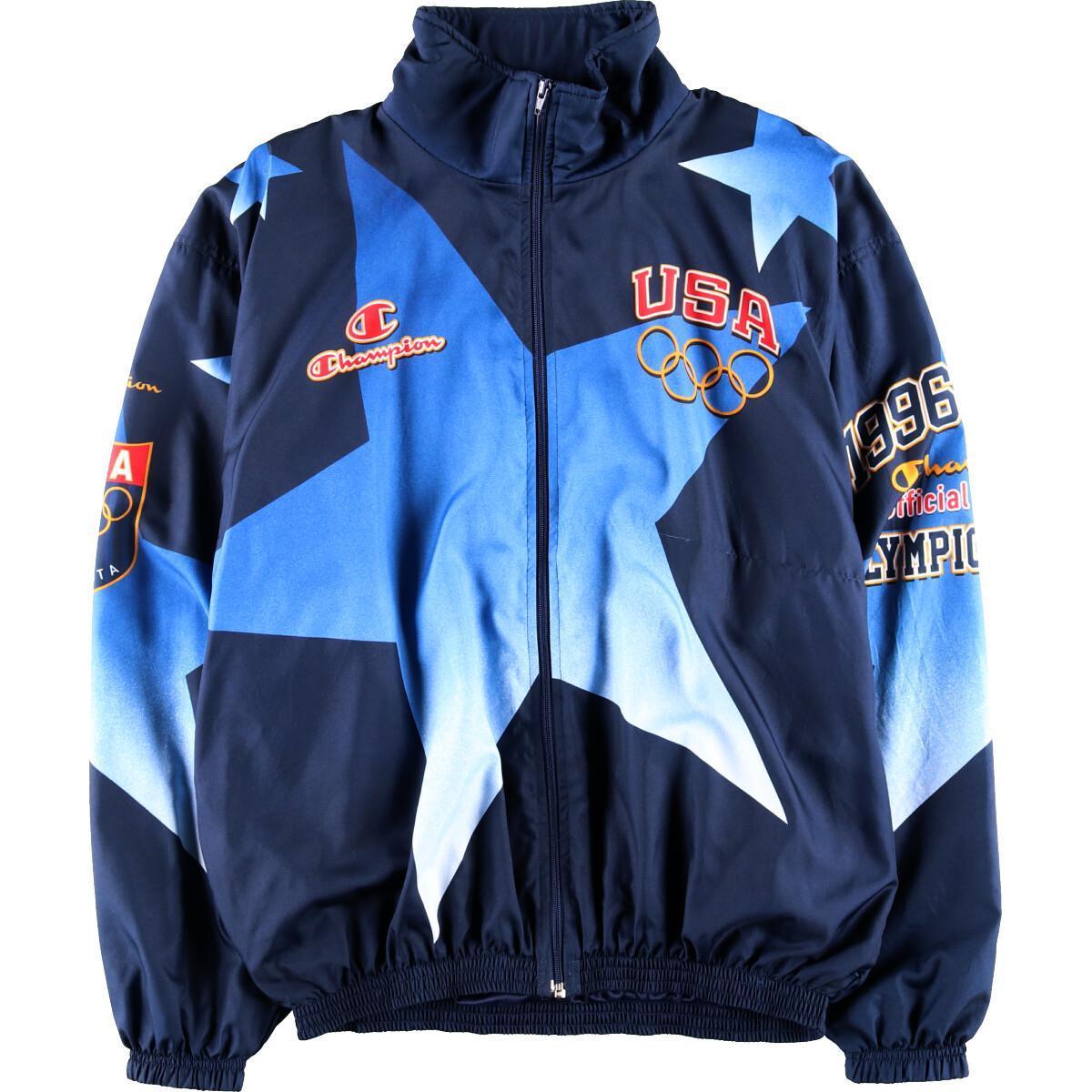 90年代 チャンピオン Champion アトランタオリンピック チームUSA 1996 ウインドブレーカー メンズXXL /wbh6487 【中古】 【191017】【VTG】