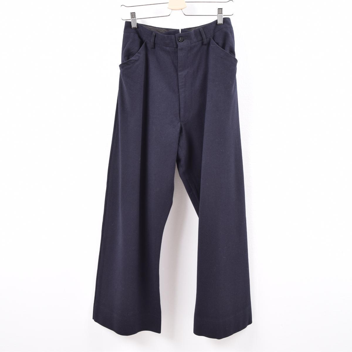 50年代 米軍実品 U.S.NAVY NAVAL CLOTHING DEPOT ウールパンツ セーラーパンツ USA製 レディースL(w30) ヴィンテージ /wbk6665 【中古】 【191028】【SS2003】