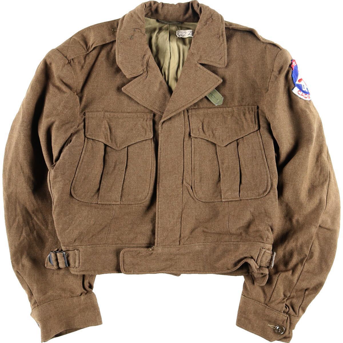 40年代 米軍実品 アイクジャケット ミリタリージャケット メンズS ヴィンテージ /wbj3167 【中古】 【191201】【VTG】【SS2003】