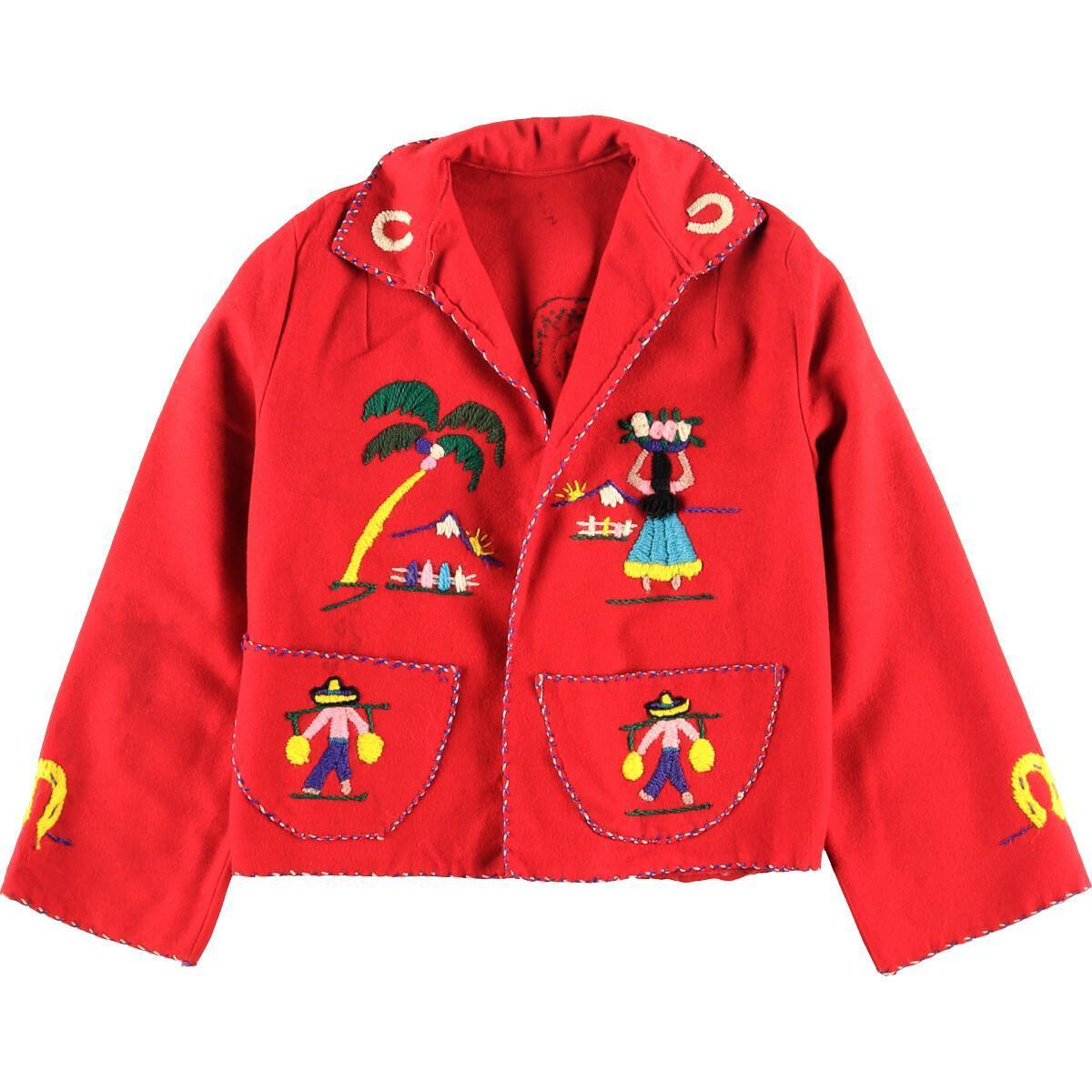 60年代 ハンド刺繍 メキシカンジャケット ウールジャケット レディースS ヴィンテージ /wbj2811 【中古】 【191206】【PD202-2】【CS2003】【SS2003】