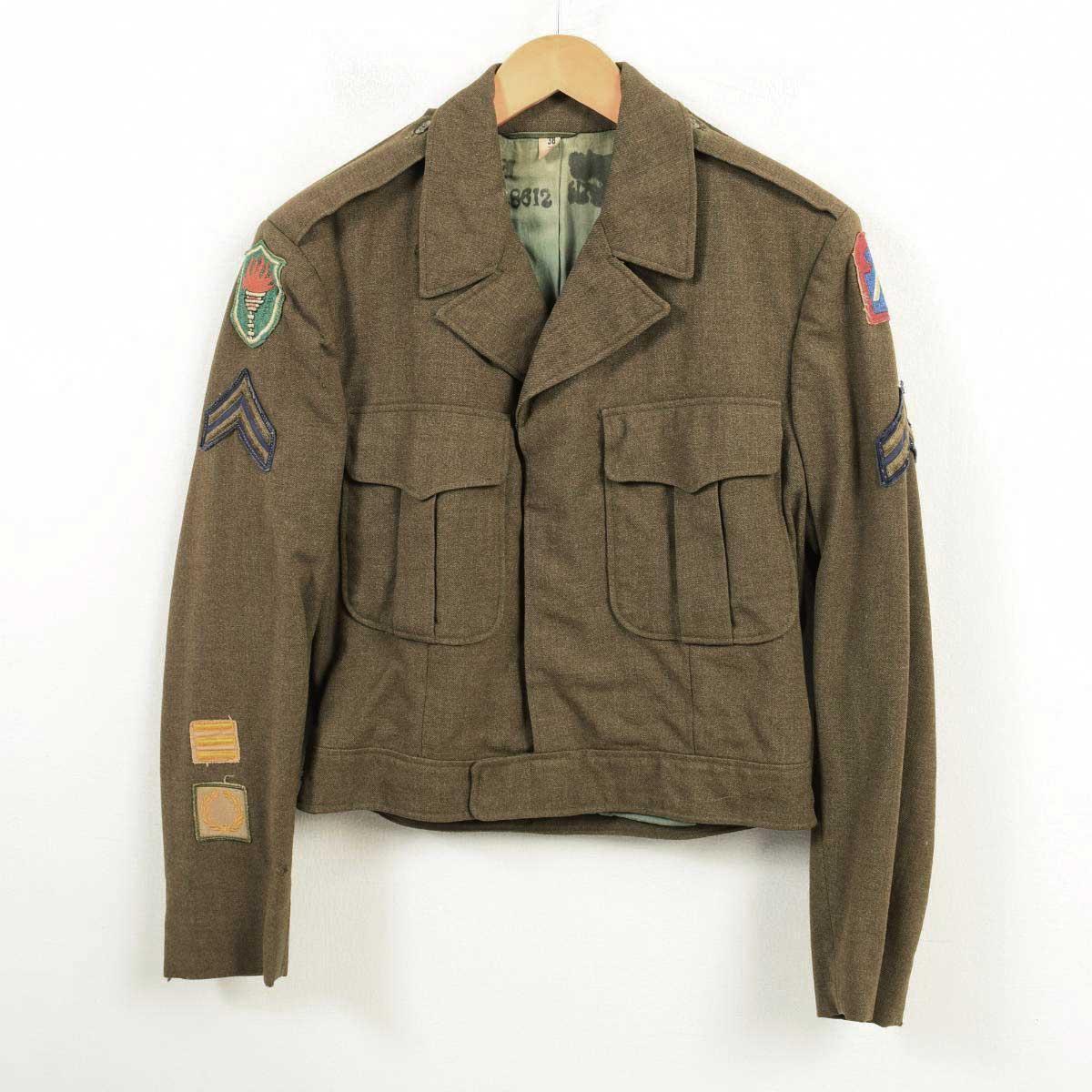50年代 米軍実品 U.S.ARMY M-1950 アイクジャケット ミリタリー ウールフィールドジャケット USA製 38/R メンズS ヴィンテージ /wav2979 【中古】 【181026】【VTG】