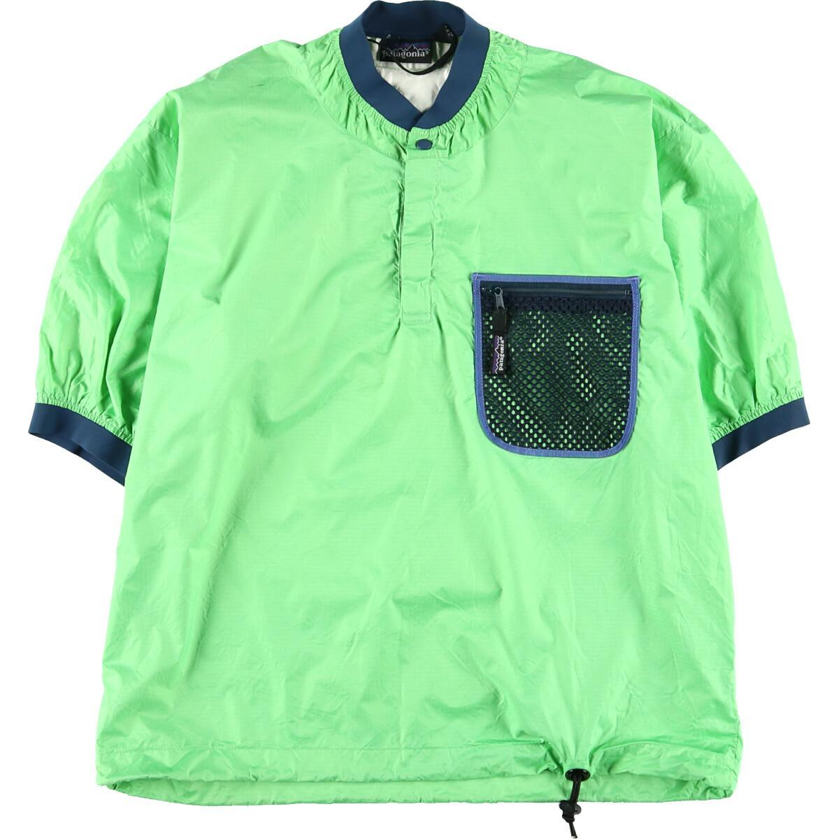 90年代 パタゴニア Patagonia パドリングジャケット ネオンカラー 半袖 ナイロンプルオーバー メンズL ヴィンテージ /wbj4791 【中古】 【200102】【VTG】