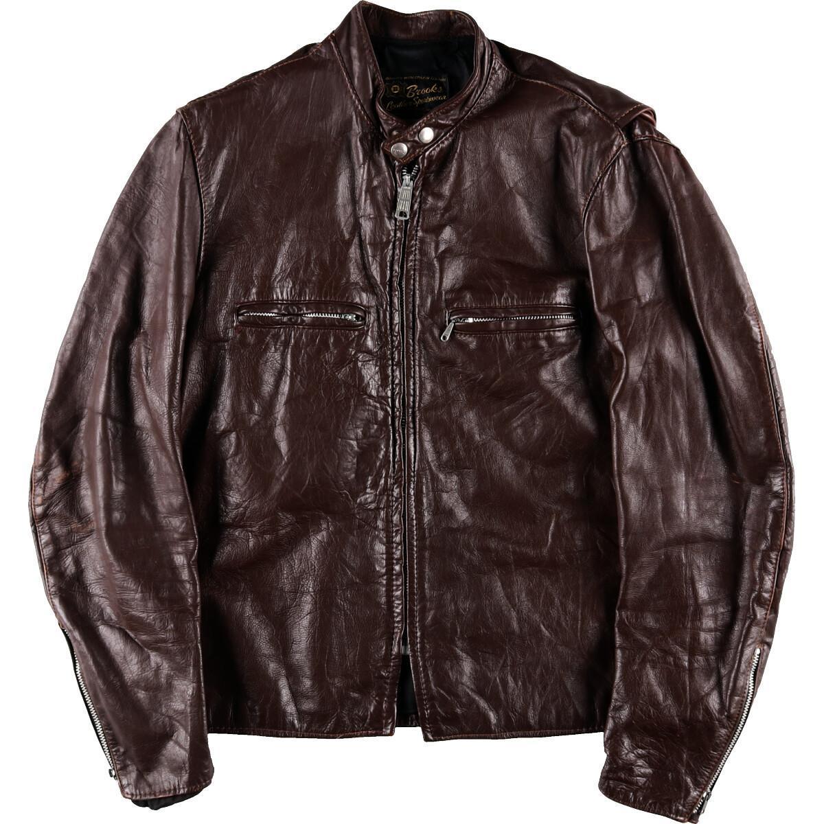 60年代 ブルックス Brooks シングルライダースジャケット 44 メンズM ヴィンテージ /eaa005313 【中古】 【200222】【VTG】