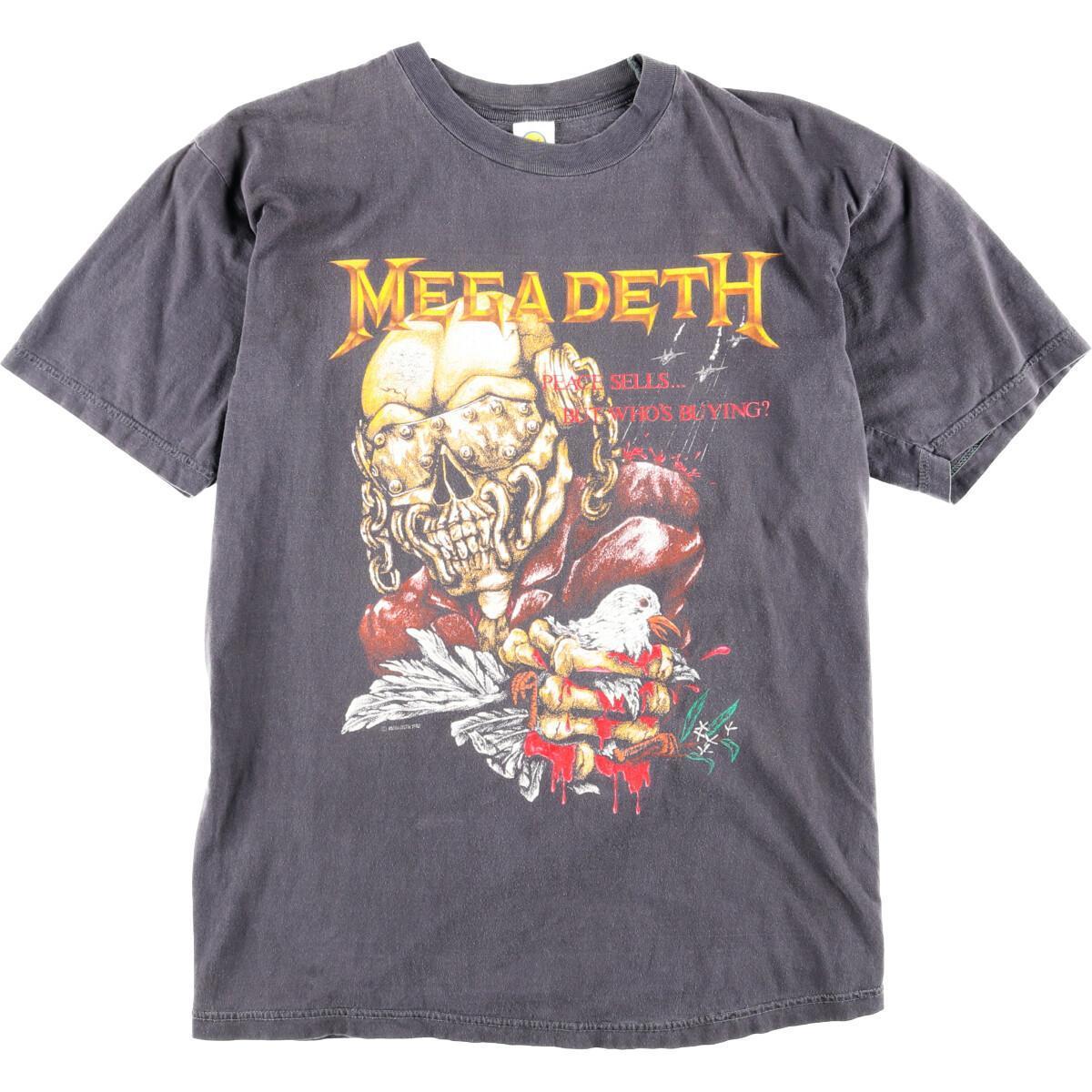 80年代 Supa Tees MEGADETH メガデス バンドTシャツ メンズXL ヴィンテージ /wbj1699 【中古】 【200223】【VTG】