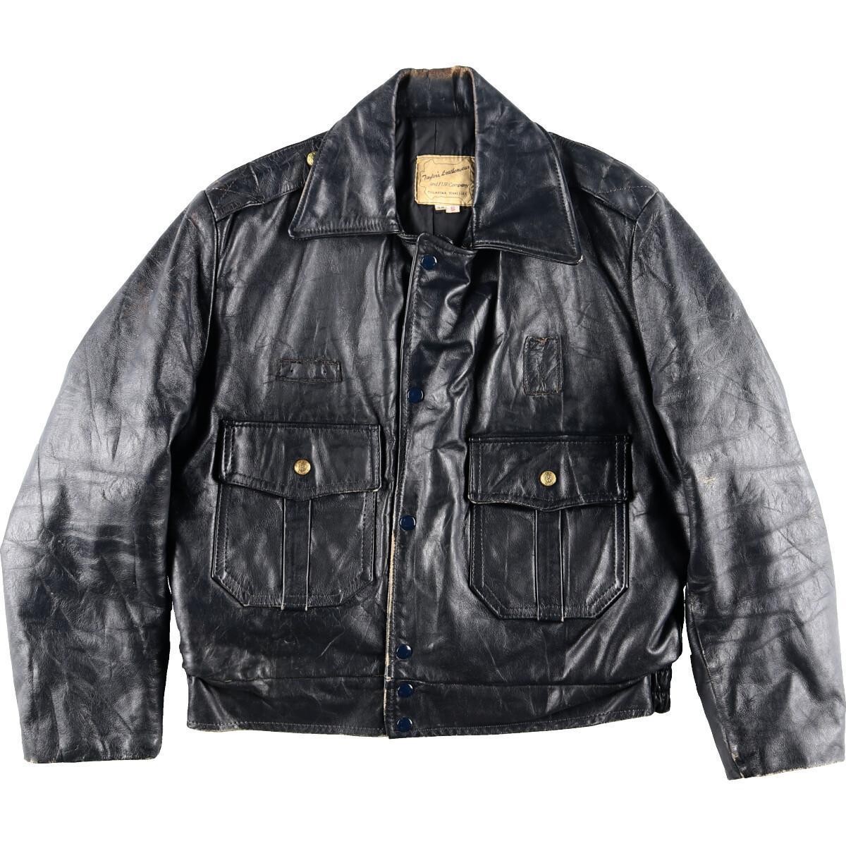 70年代 Taylor's Leatherwear ポリスマンレザージャケット 38 S メンズM ヴィンテージ /eaa008084 【中古】 【200222】