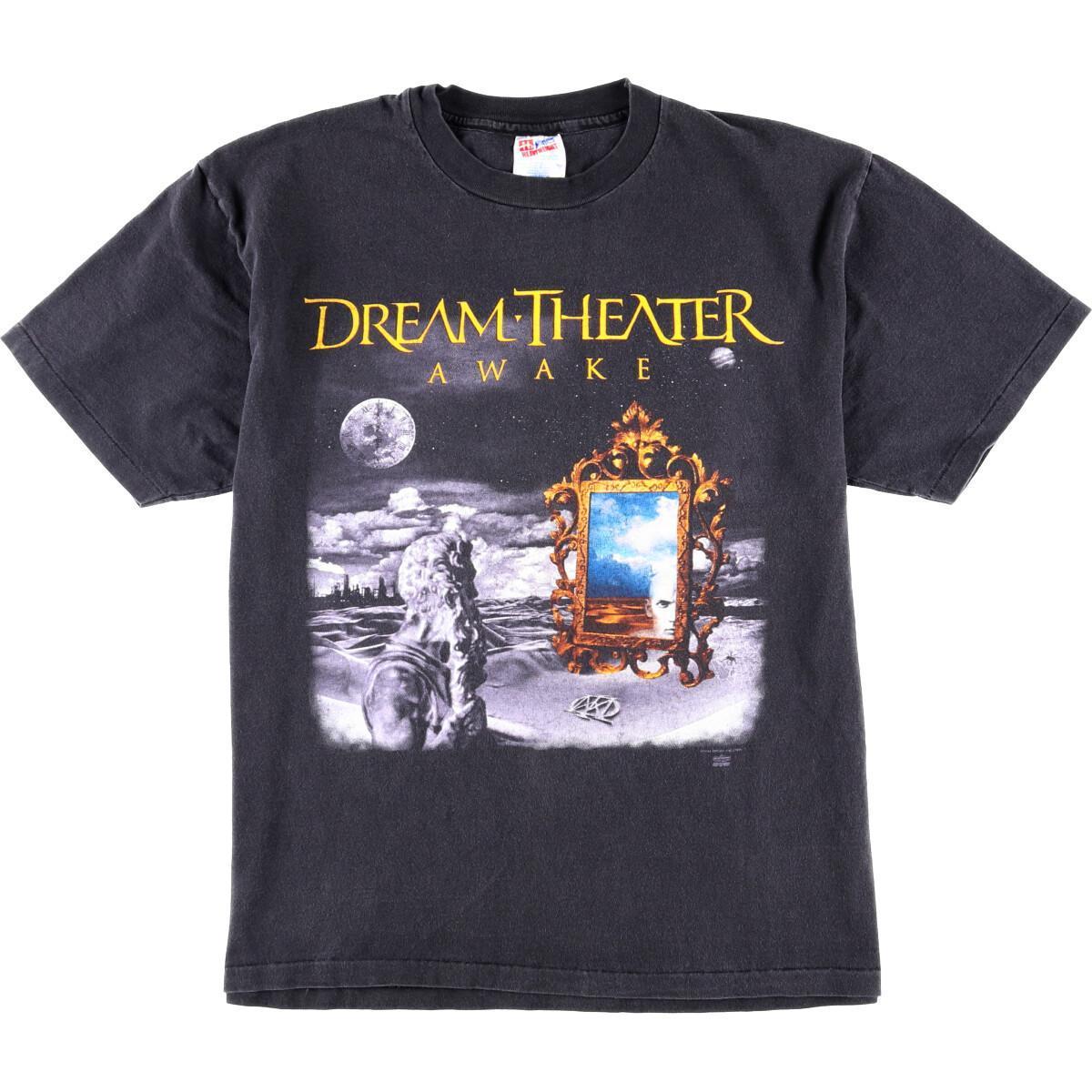 90年代 ヘインズ Hanes DREAM-THEATER ドリームシアター WAKING UP THE WORLD TOUR 94-95 バンドTシャツ USA製 メンズL /wbj0231 【中古】 【200227】